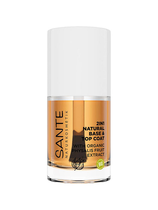 Naturkosmetik 2in1 Natural Base & Top Coat 10 ml von SANTE
