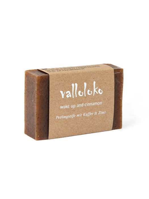 Naturkosmetik Peelingseife Wake Up and Cinnamon - Kaffee & Zimt 100 g von Valloloko