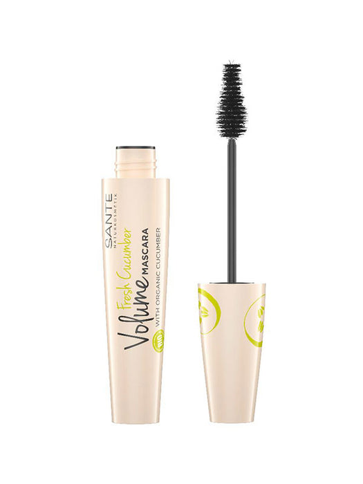 Naturkosmetik Fresh Cucumber Volume Mascara Black 12 ml von SANTE
