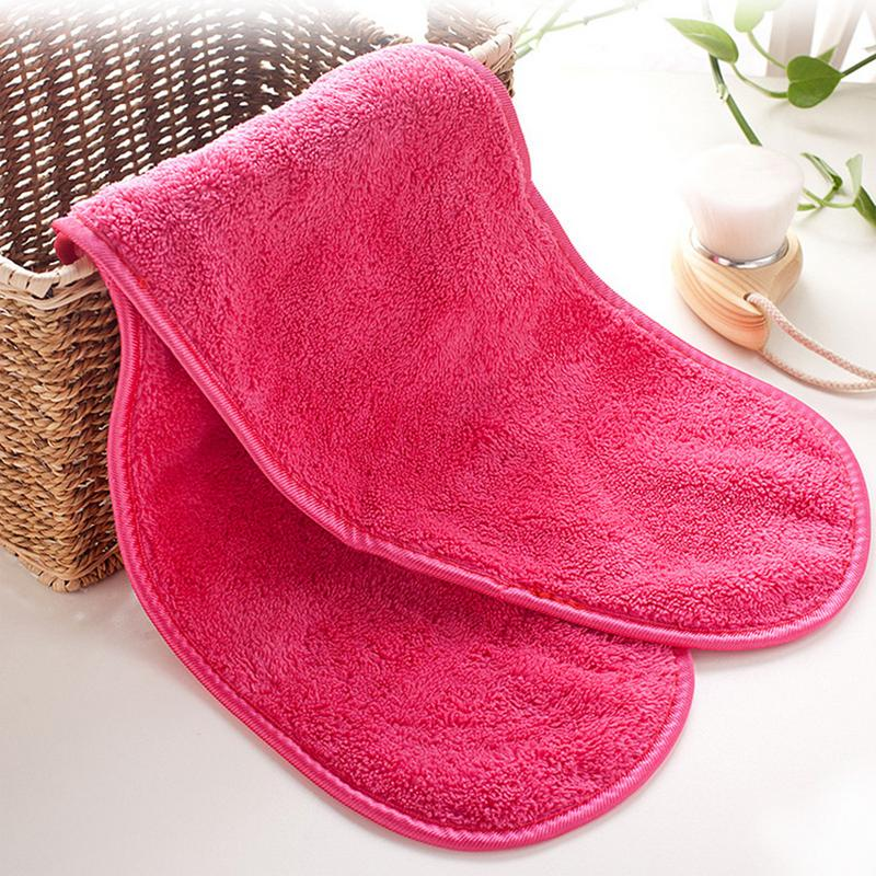 40*18cm Microfiber Makeup Remover Reusable Makeup Eraser Towel Remover Wipes No Need Cleansing Oil PVC Box