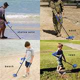 Voilamart Metal Detector for Kids with Waterproof Search Coil, LCD Display and Adjustable Sensitive Stem