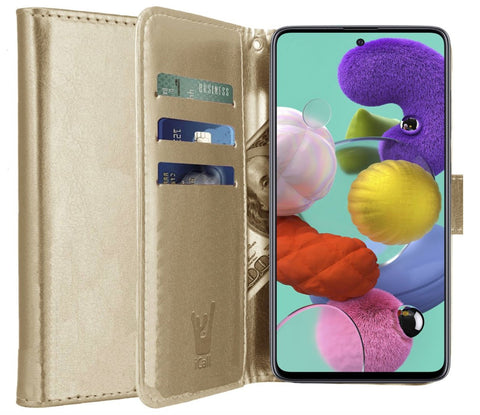 Galaxy A51 Book Case - Goud | iCall