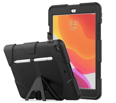 iPad 10.2 2019 Hoesje - Heavy Duty Armor Case met Screenprotector