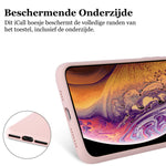 Apple iPhone 11 Pro Max Hoesje - Liquid Case Roze