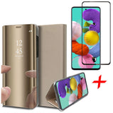 Samsung Galaxy A51 Book Case Met screenprotector Goud | iCall