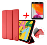 iPad 10.2 2019 Hoesje Rood + Screenprotector - Smart Case | iCall