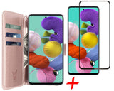 Galaxy A51 Book Case + Screenprotector - Rose | iCall