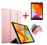 iPad 10.2 2019 Hoesje Roze + Screenprotector - Smart Case | iCall