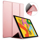 iPad 10.2 (2019) Rose / Roze - Smart Book Case Siliconen Hoesje | iCall