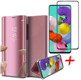 Samsung Galaxy A71 Book Case Met screenprotector Rose | iCall