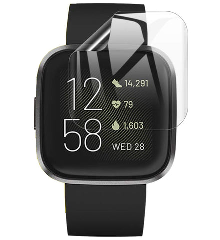 Fitbit Versa 2 Screenprotector - Glas PET Folie - Full Screen Volledig Beeld