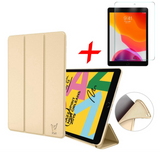 iPad 2019 10.2 Hoes + Screenprotector - Smart Book Case Siliconen Hoesje