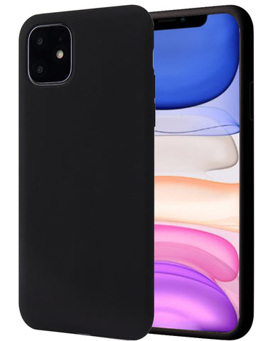 Apple iPhone 11 Hoesje - Liquid Case Zwart