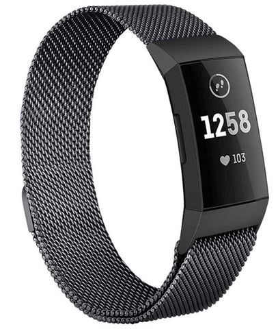 Fitbit Charge 3 - Milanees bandje