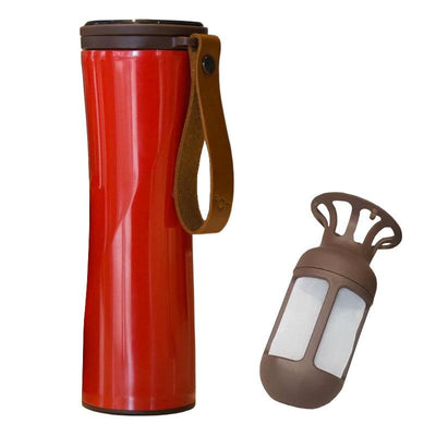 Smart & Eco-Friendly Coffee Tumbler with OLED Touch Screen 200003824 digitalnomadcorner Red