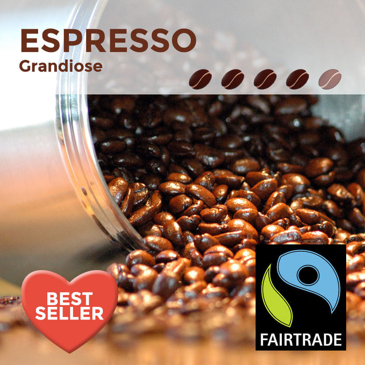 Fairtrade Espresso Grandiose Coffee Beans
