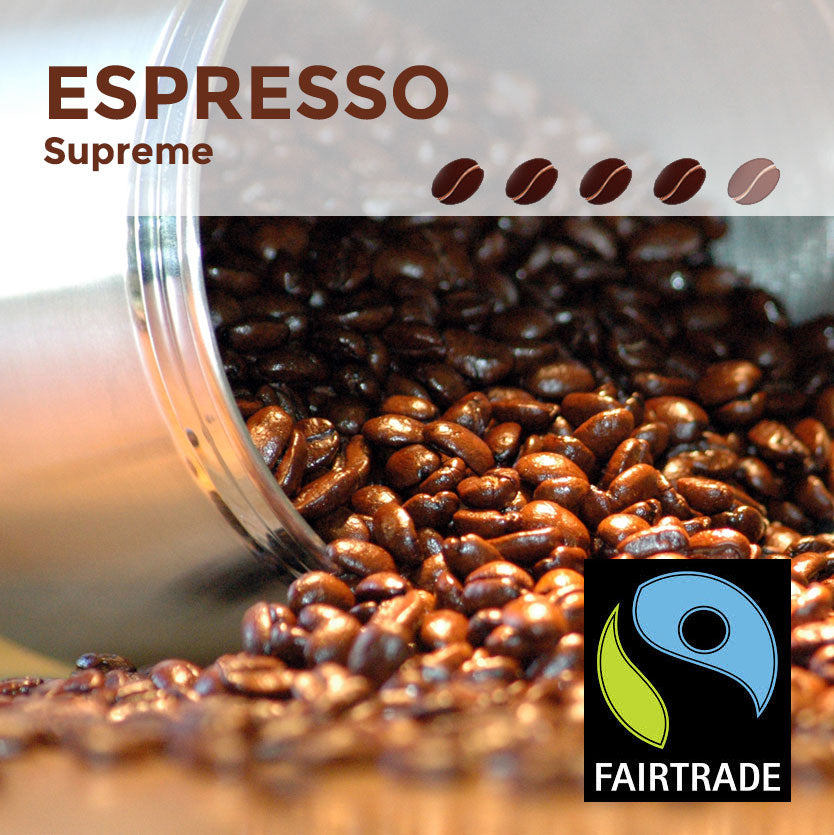 Fairtrade Espresso Supreme Coffee Beans