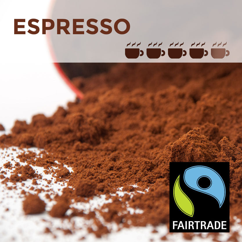 Fairtrade Espresso Cafetiere Coffee - 100 packs x 15g (medium)