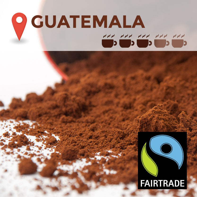 Fairtrade Guatemalan Cafetiere Coffee - 100 packs x 15g (medium)