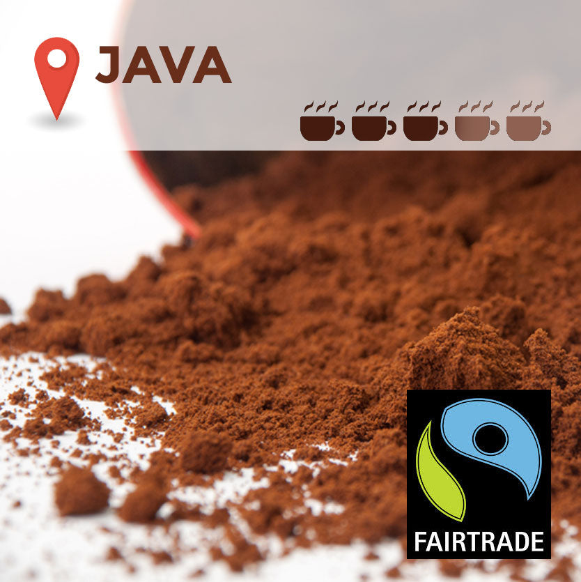 Fairtrade Java Cafetiere Coffee - 100 packs x 15g (medium)