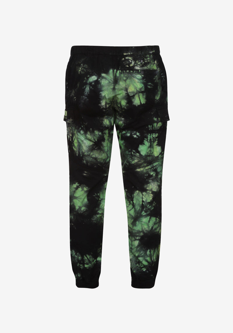 Pantalon Cargo Pardon My French Batik Tie Dye Vert & Noir-PARDON MY FRENCH