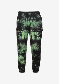 Pantaloni cargo Pardon My French Batik Tie Dye Verde e Nero-PARDON MY FRENCH