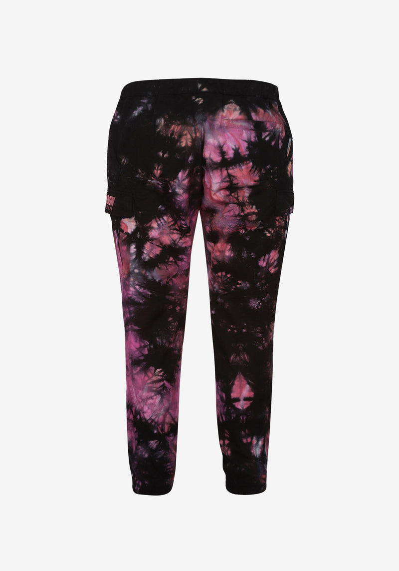 Pantalon Cargo Pardon My French Batik Tie Dye Rose & Noir