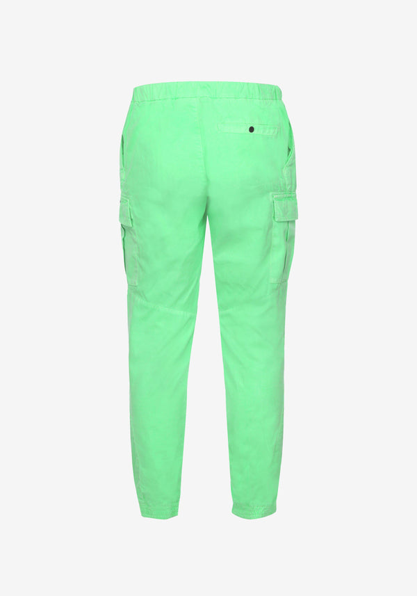 Pantalon Cargo Pardon My French Vert Fluo-PARDON MY FRENCH