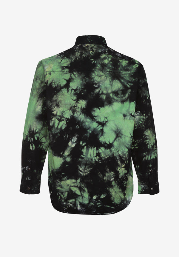 Рубашка куртка Pardon My French Батик Tie Dye Green & Black-PARDON MY FRENCH