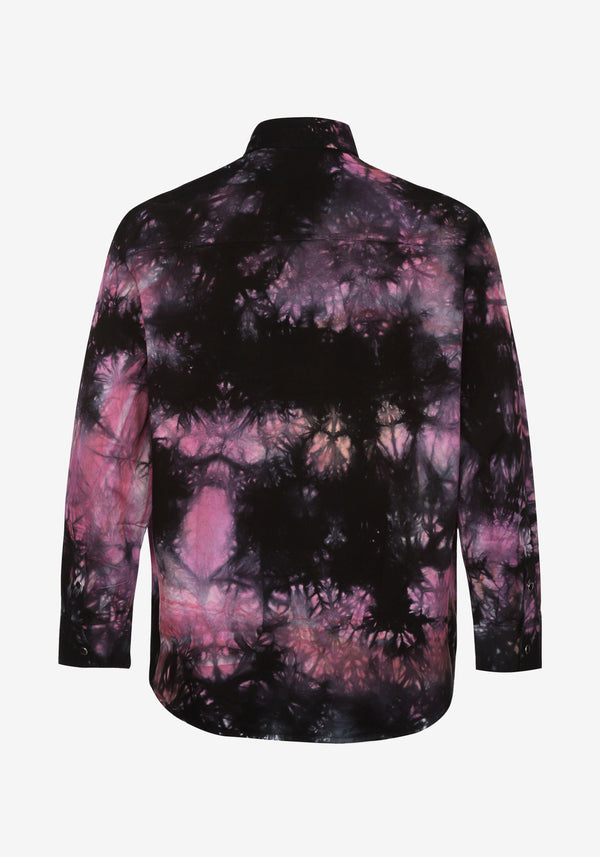 Veste Chemise Pardon My French Batik Tie Dye Rose & Noir-PARDON MY FRENCH
