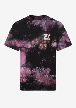 T-SHIRT PARDON MY FRENCH BATIK TIE DYE KLASSISCHES LOGO