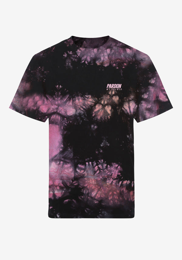 Tshirt Pardon My French Batik Tie Dye Rose & Noir-PARDON MY FRENCH