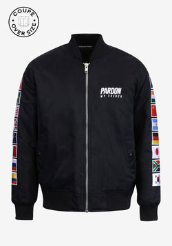 Bomber con zip Pardon My French Edizione Bandiere del mondo-PARDON MY FRENCH