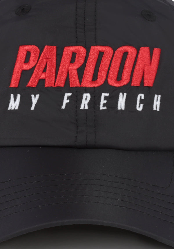 Gorra Pardon My French Nuevo logo negroPARDON MY FRENCH