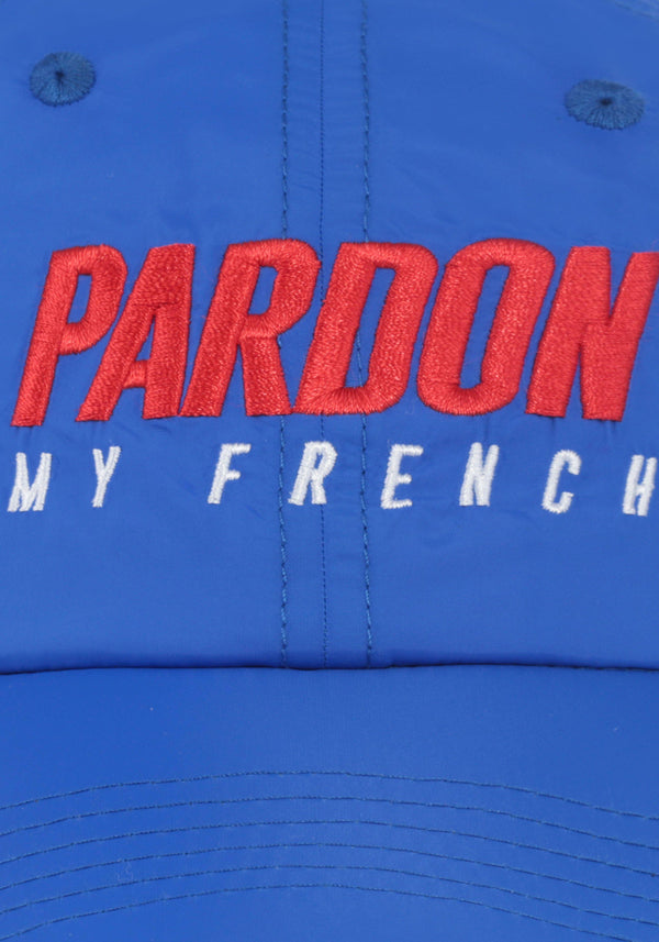 Kappen Pardon My French Neues blaues Logo-PARDON MY FRENCH