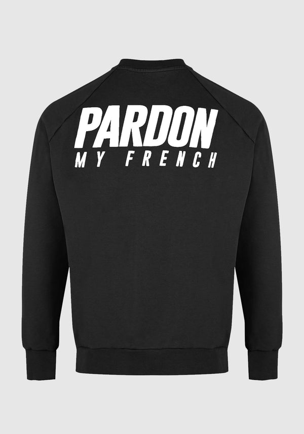 PULL CREWNECK PARDON MY FRENCH NOIR
