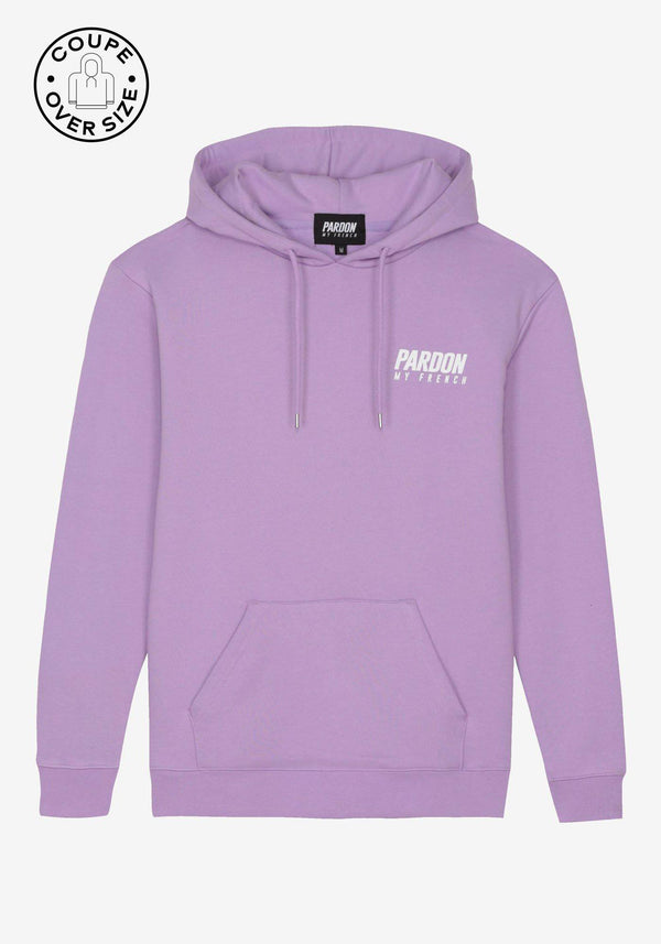 Hoodie Pardon My French Nuevo logotipo Violeta Pastel-PARDON MY FRENCH