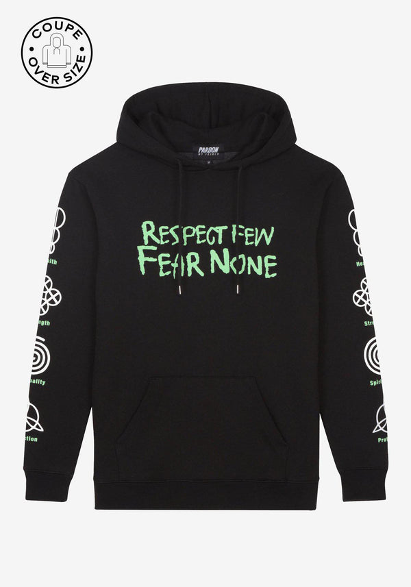 Hoodie Pardon My French Respect Few Fear None-PARDON MY FRENCH