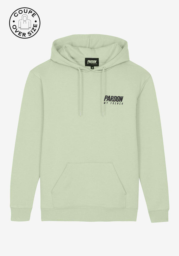 Hoodie Pardon My French New Logo Vert Pastel