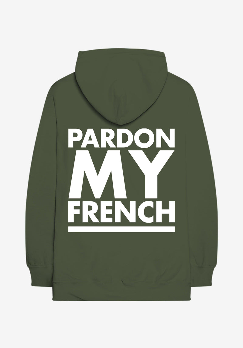 Khaki Classic Logo Hoodie Pardon My French-PARDON MY FRENCH