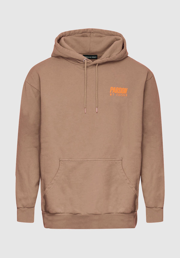 HOODIE PARDON MY FRENCH MARRON
