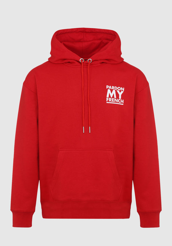 HOODIE PARDON MY FRENCH CLASSIC LOGO ROUGE