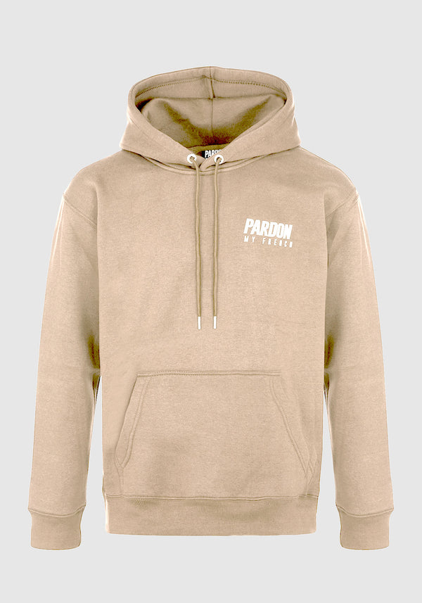 HOODIE PARDON MY FRENCH BEIGE NEW LOGO