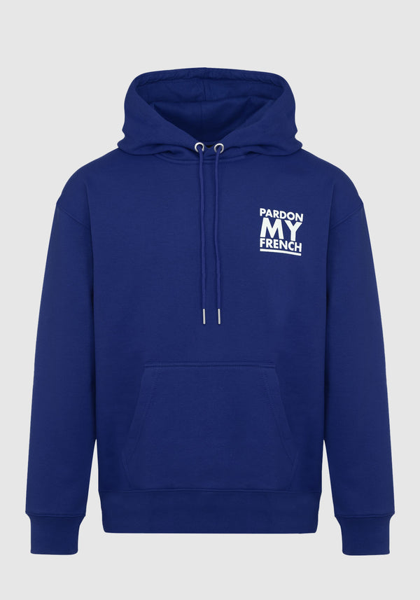 HOODIE PARDON MY FRENCH CLASSIC LOGO NAVY