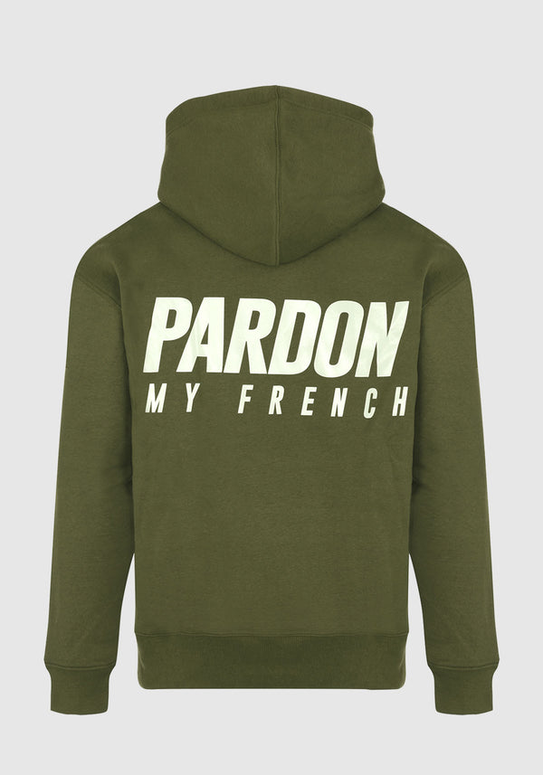 HOODIE PARDON MY FRENCH KAKI NEW LOGO