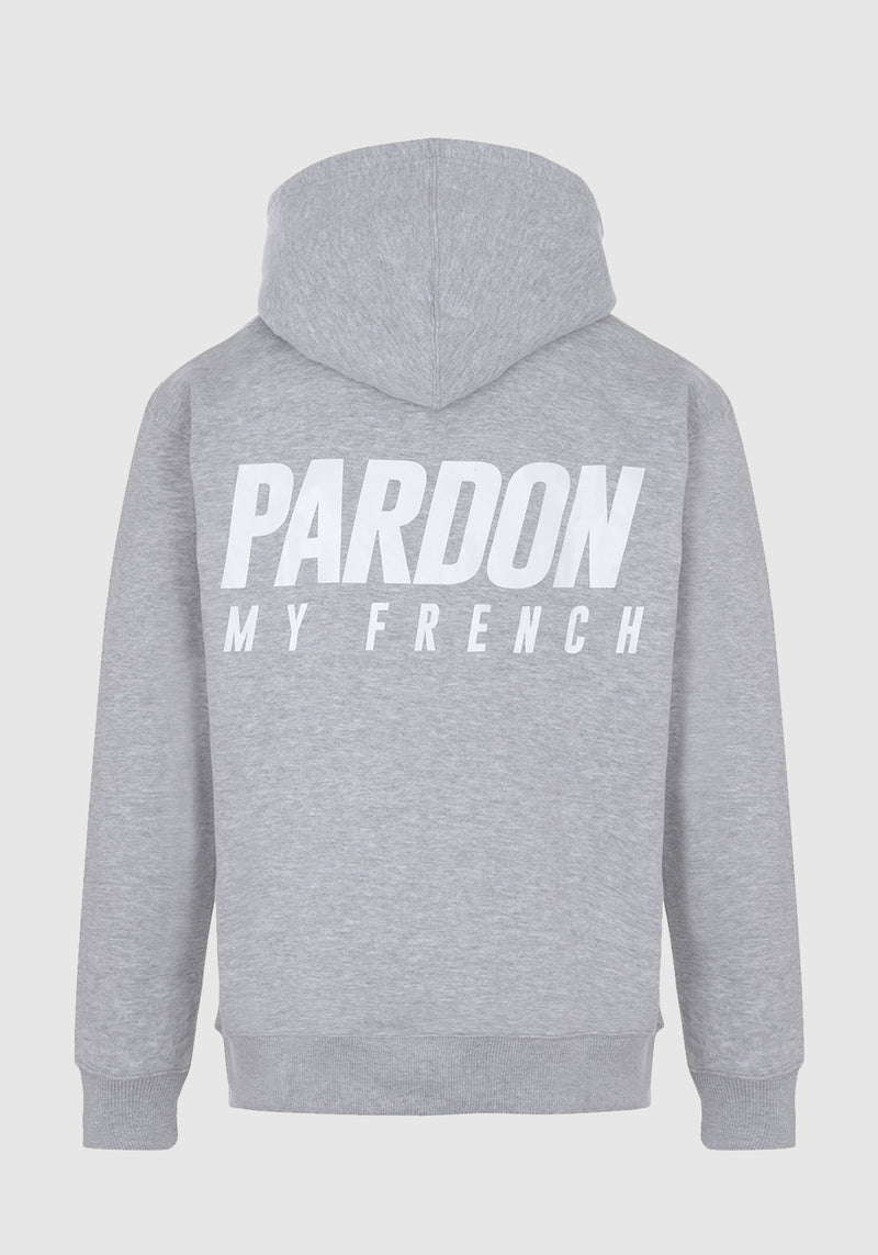 HOODIE PARDON MY FRENCH GRIS NEW LOGO