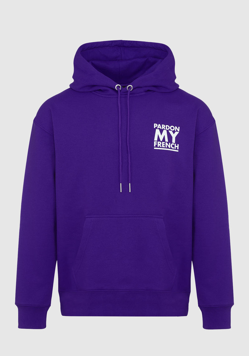 HOODIE PARDON MY FRENCH CLASSIC LOGO VIOLET
