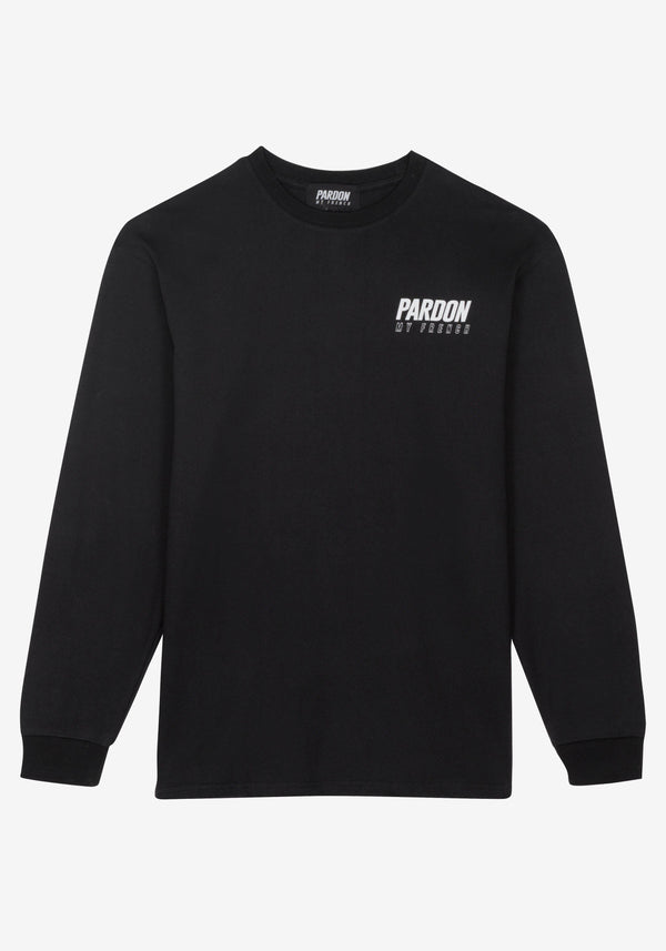 Langarm T-Shirt Pardon My French Neues Logo Schwarz-PARDON MY FRENCH