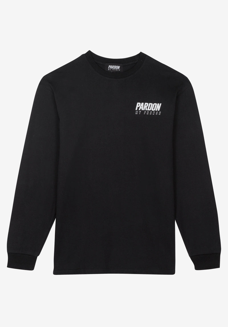 Tshirt Manches Longues Pardon My French New Logo Noir-PARDON MY FRENCH