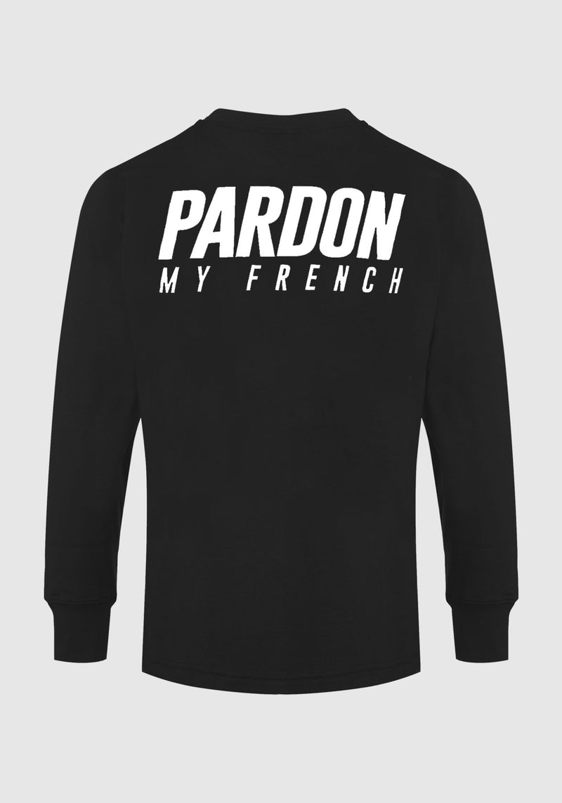 TSHIRT MANCHES LONGUES PARDON MY FRENCH NOIR
